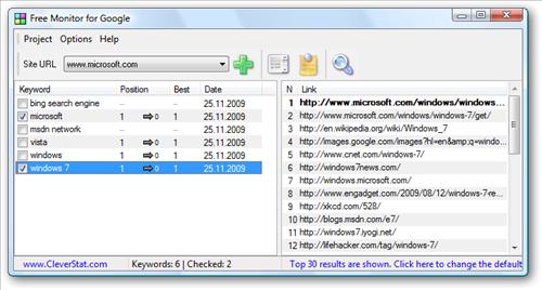 google monitor pozycjonowanie