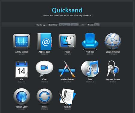 quicksand jquery ajax