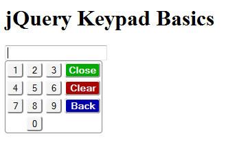 jQuery Keypad