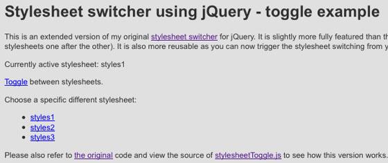 stylesheet switcher