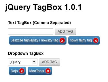 TagBox jquery
